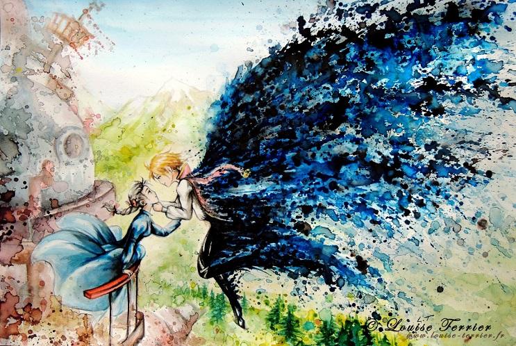 """Las acuarelas de Louise Terrier inspiradas en el anime """"Studio Ghibli"""" 02"""