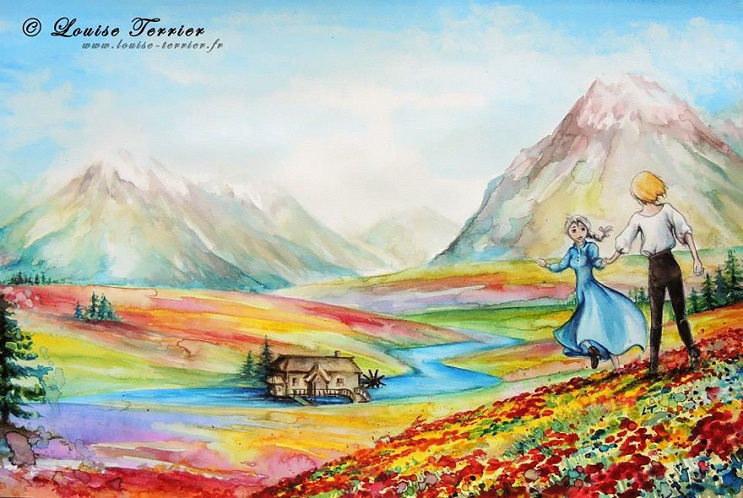 """Las acuarelas de Louise Terrier inspiradas en el anime """"Studio Ghibli"""" 08"""