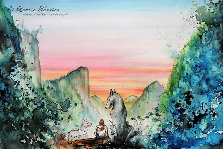 """Las acuarelas de Louise Terrier inspiradas en el anime """"Studio Ghibli"""" 10"""