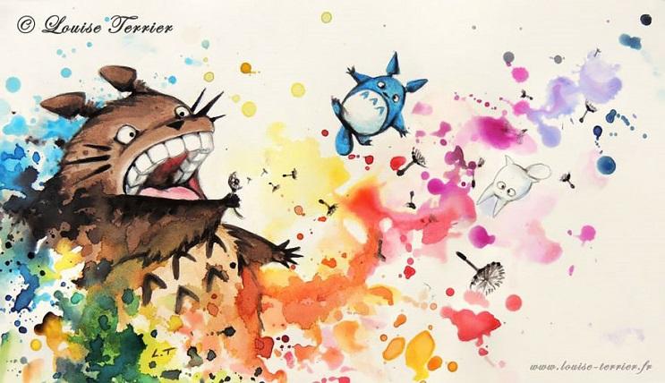 """Las acuarelas de Louise Terrier inspiradas en el anime """"Studio Ghibli"""" 11"""