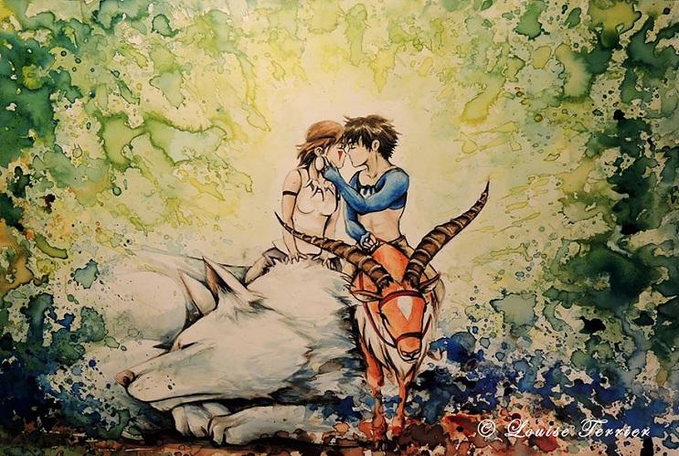 """Las acuarelas de Louise Terrier inspiradas en el anime """"Studio Ghibli"""" 12"""