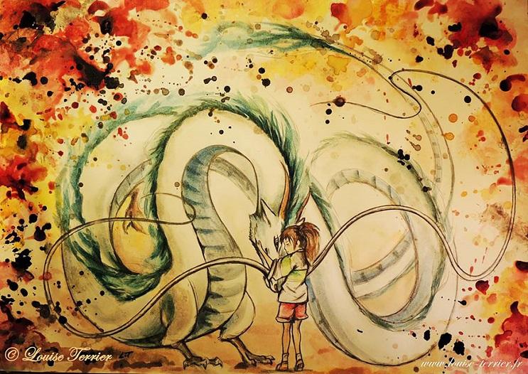 """Las acuarelas de Louise Terrier inspiradas en el anime """"Studio Ghibli"""" 13"""