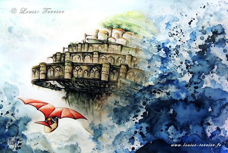 """Las acuarelas de Louise Terrier inspiradas en el anime """"Studio Ghibli"""" 14"""