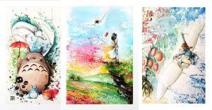 Las acuarelas de Louise Terrier y el universo de Studio Ghibli