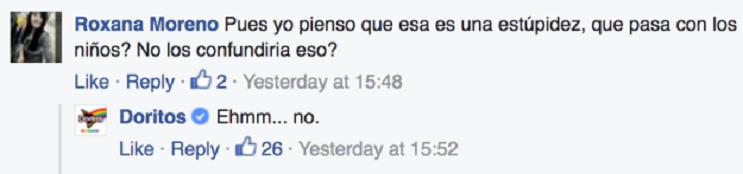 Las increíbles respuestas de Doritos para callar a los homofóbicos 02
