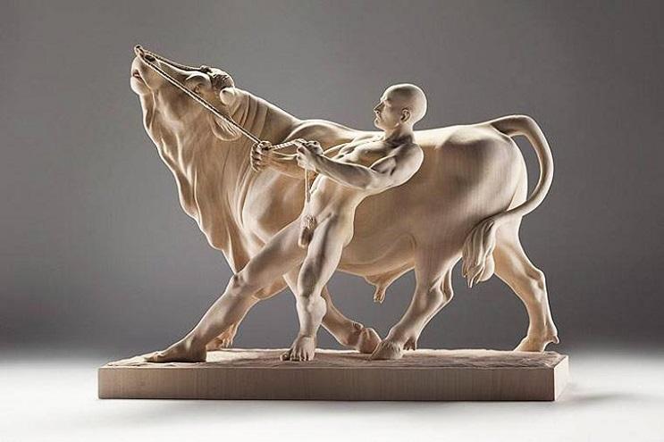 Mira los asombrosos animales que este artista crea empleando madera 03