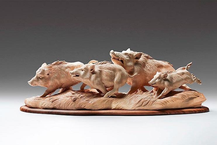 Mira los asombrosos animales que este artista crea empleando madera 07