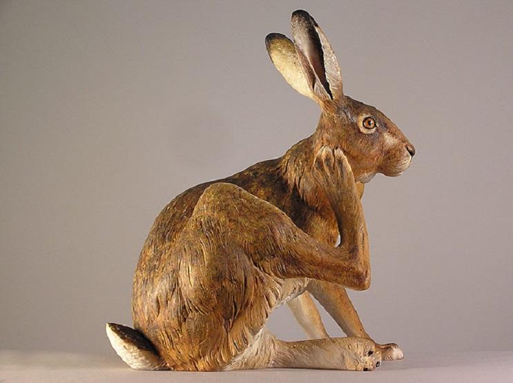 Mira los asombrosos animales que este artista crea empleando madera 17