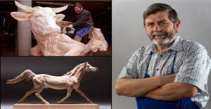 Mira los asombrosos animales que este artista crea empleando madera