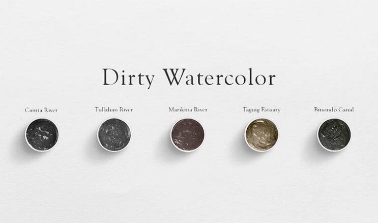 Pinturas creadas con agua de río contaminada por un importante motivo 006