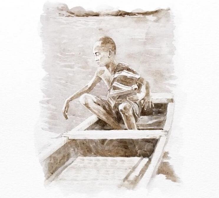 Pinturas creadas con agua de río contaminada por un importante motivo 010