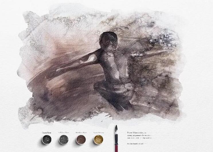 Pinturas creadas con agua de río contaminada por un importante motivo 013
