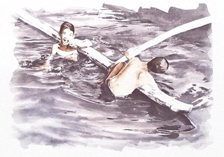 Pinturas creadas con agua de río contaminada por un importante motivo 014