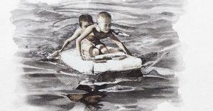 Pinturas creadas con agua de río contaminada por un importante motivo