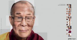 Reconstruyen el rostro de famosas personalidades utilizando fotografías de stock