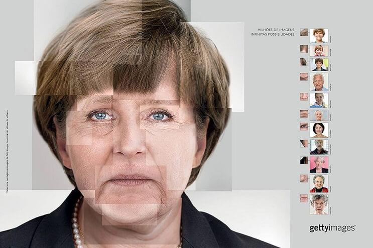Reconstruyen el rostro de famosas personalidades utilizando fotografías de stock angela merkel final