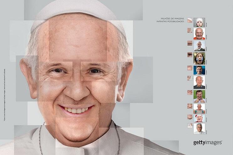 Reconstruyen el rostro de famosas personalidades utilizando fotografías de stock papa 2 final