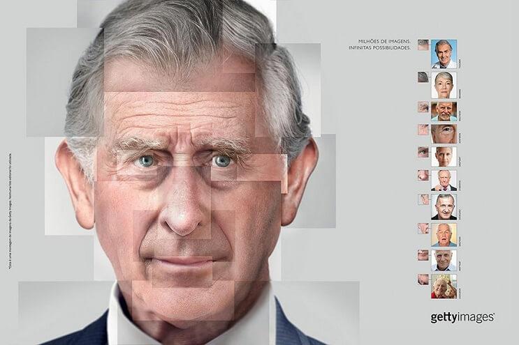 Reconstruyen el rostro de famosas personalidades utilizando fotografías de stock principe carlos final