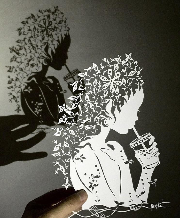 Un artista japonés que crea los más alucinantes cortes en papel a mano 05