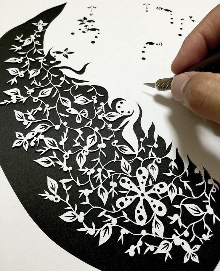 Un artista japonés que crea los más alucinantes cortes en papel a mano 06