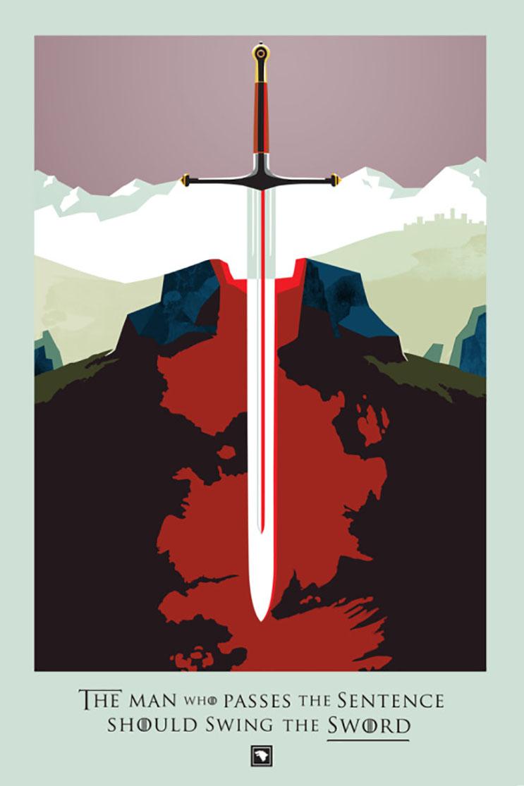 Un fanático decidió recrear todos los capítulos de Game of Thrones con estas alucinantes ilustraciones 08