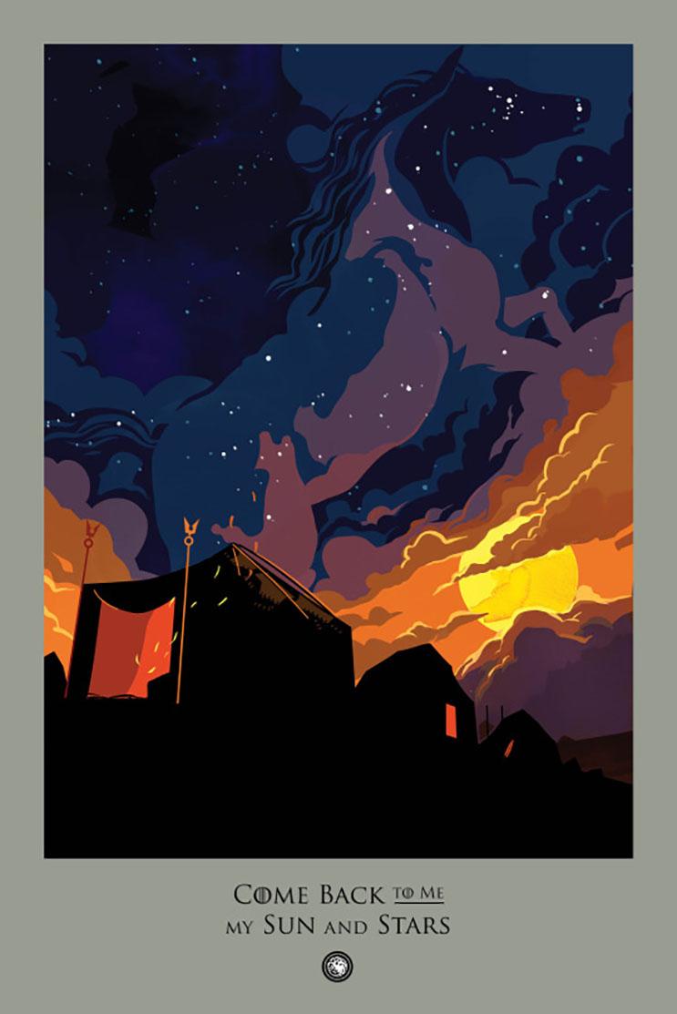 Un fanático decidió recrear todos los capítulos de Game of Thrones con estas alucinantes ilustraciones 25