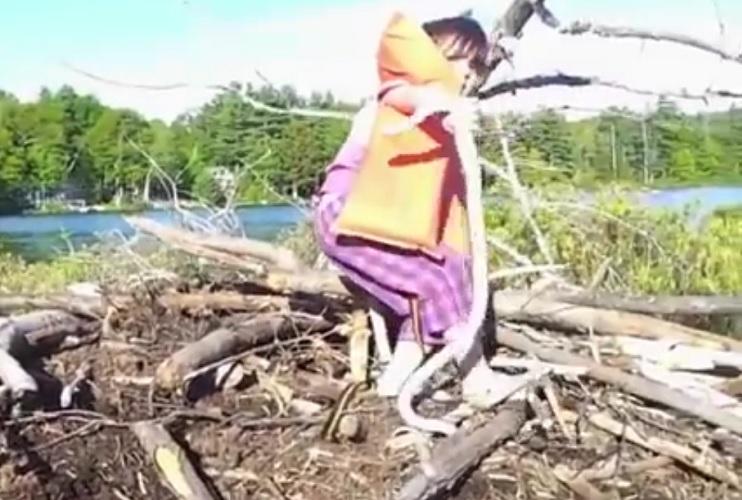 Una niña juega con una serpiente sin miedo alguno 1