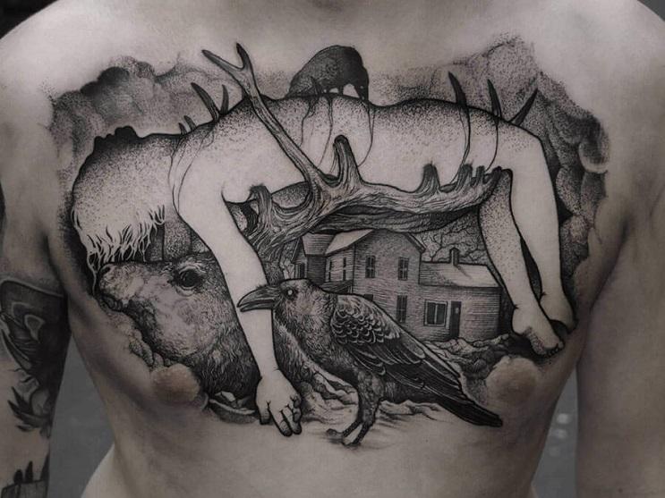 Vuélvete loco con estos radicales y monstruosos tatuajes 02