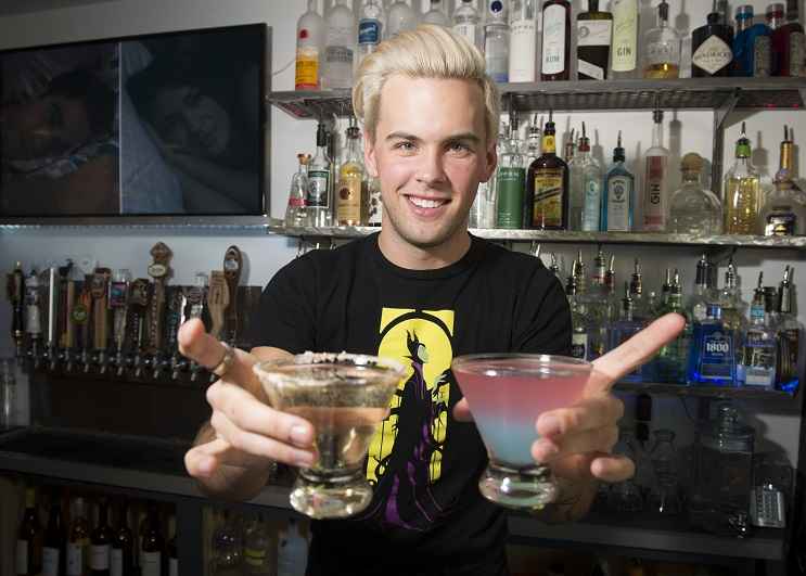 Cody Winfrey, 23, of Cocktails by Cody, created 46 beverages inspired by Disney characters and has become a kind of Internet sensation. People come into the Chairs Public House where he bartends and ask for him. COLIN MULVANY colinm@spokesman.com