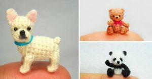 15 animales en miniatura tejidos a crochet que pueden ser un gran idea para regalar