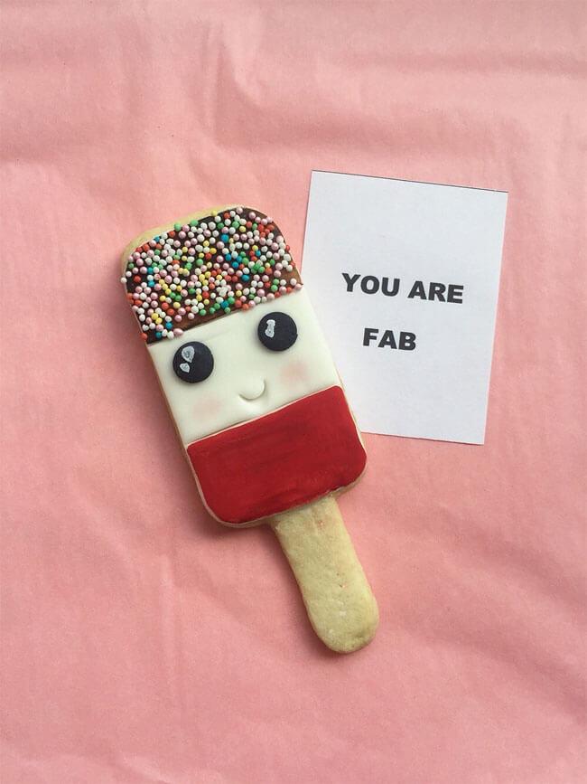 Adorables galletas con caras que pueden trasmitir el cariño que tenemos a nuestros seres queridos 5