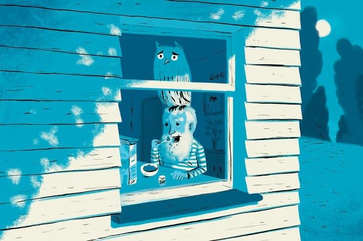 Artista ilustra las 6 situaciones más extrañas que ha visto a través de una ventana 2
