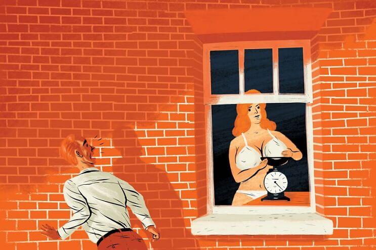 Artista ilustra las 6 situaciones más extrañas que ha visto a través de una ventana 3