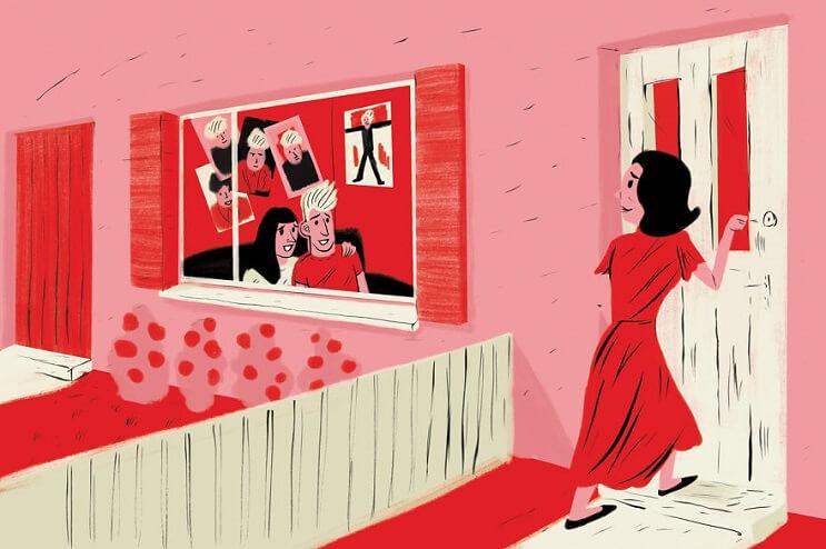 Artista ilustra las 6 situaciones más extrañas que ha visto a través de una ventana 5