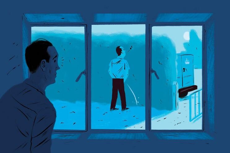 Artista ilustra las 6 situaciones más extrañas que ha visto a través de una ventana 6