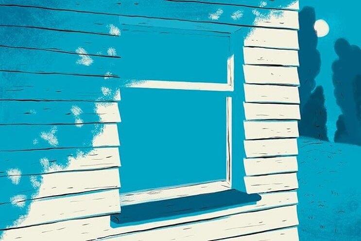 Artista ilustra las 6 situaciones más extrañas que ha visto a través de una ventana - Paul Blow 1 (1)