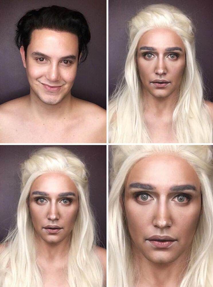 Artista se transforma en los personajes de Game Of Thrones