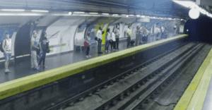 En Madrid captan un tren fantasma llegando a la estación