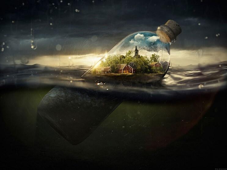 Conoce el proceso de fotomanipulación del reconocido artista Erik Johansson - Drifting Away