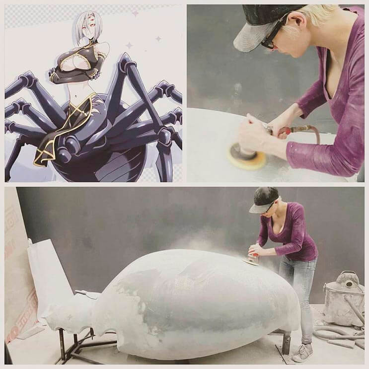 Cosplayer Marie-Claude hizo un traje de araña increíble 10