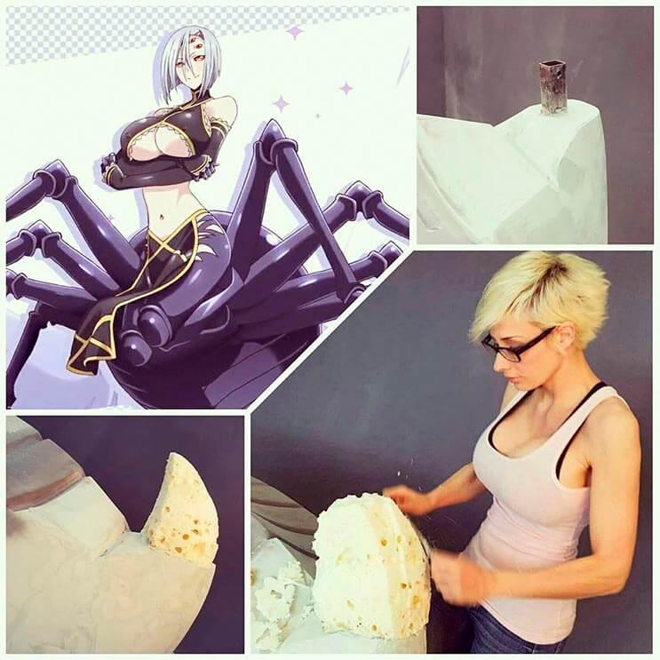 Cosplayer Marie-Claude hizo un traje de araña increíble 5