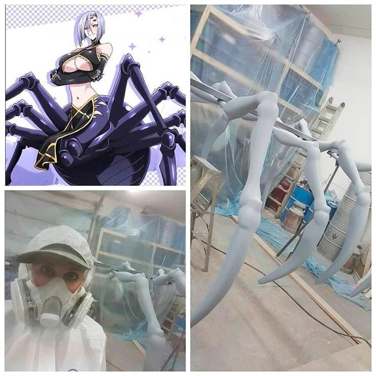 Cosplayer Marie-Claude hizo un traje de araña increíble 9