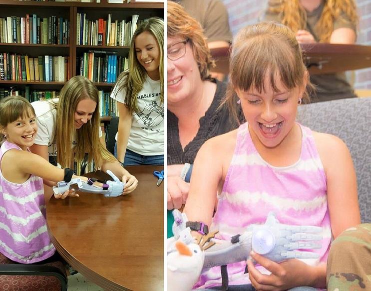 Cumplieron el sueño de esta niña al diseñarle una prótesis de su película favorita de Disney  11