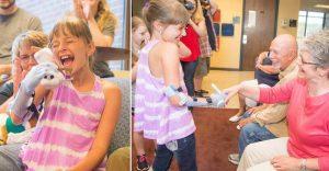 El sueño de esta niña se hizo realidad gracias a una prótesis de Frozen para su mano