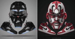 Diseñador sorprende transformando zapatillas en conocidas celebridades