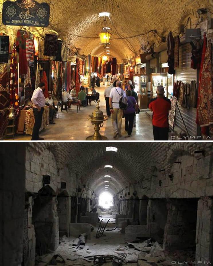 El antes y el después de una ciudad afectada por las guerras 1