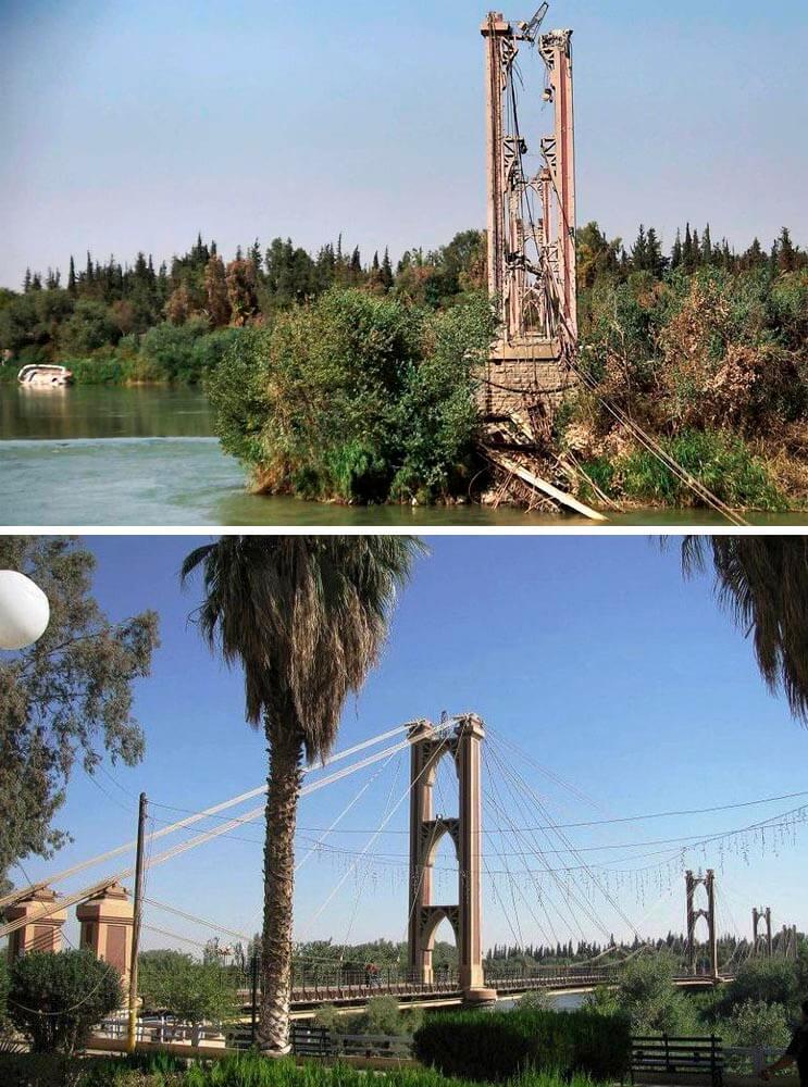El antes y el después de una ciudad afectada por las guerras 14