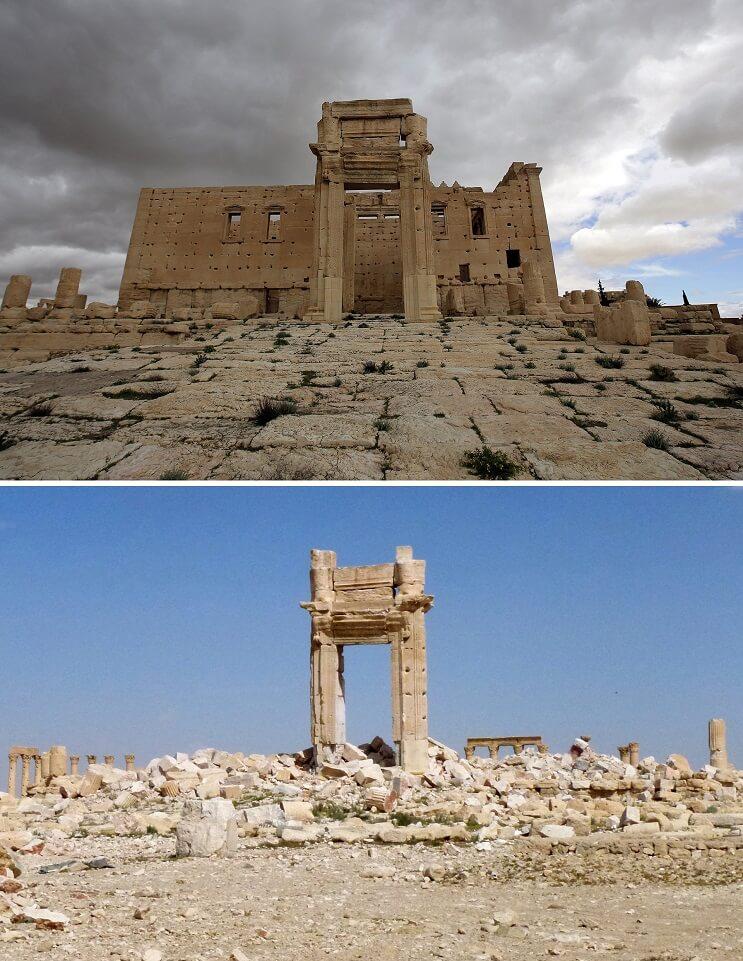 El antes y el después de una ciudad afectada por las guerras 15