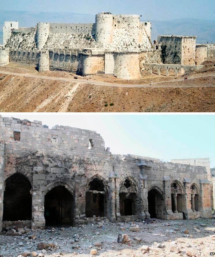 El antes y el después de una ciudad afectada por las guerras 18