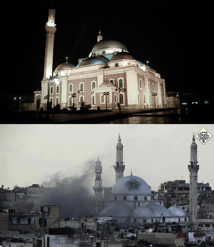 El antes y el después de una ciudad afectada por las guerras 20